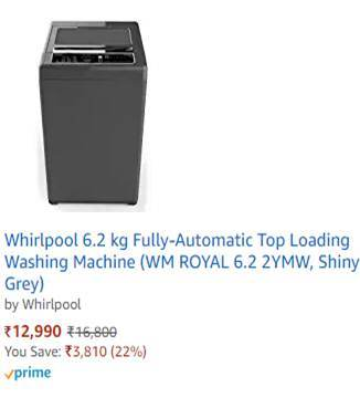 whirlpool fully autometic machine